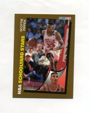 1992 93 Fleer Basketball 260 Scottie Pippen SY