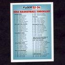 1993-94 Fleer Basketball #400 Checklist