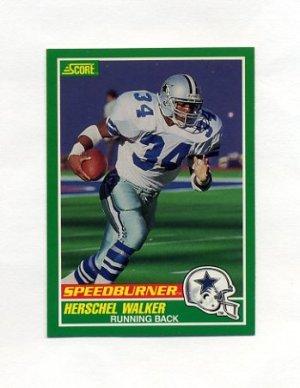 1989 Score Football #317 Herschel Walker SPD Dallas Cowboys  for cheap