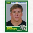 1989 Score Football #254 Steve Wisniewski RC - Los Angeles Raiders