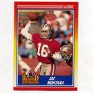 1990 Score Football #594 Joe Montana RB - San Francisco 49ers