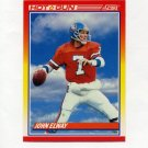 1990 Score Football #564 John Elway HG - Denver Broncos