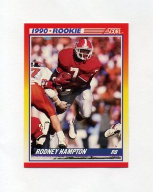 1990 Score Football #307 Rodney Hampton RC - New York Giants
