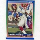 1990 Score Football #110 Thurman Thomas - Buffalo Bills