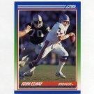 1990 Score Football #025 John Elway - Denver Broncos NM-M