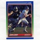 1990 Score Football #025 John Elway - Denver Broncos Ex