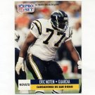 1991 Pro Set Spanish Football #267 Eric Moten - San Diego Chargers