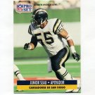 1991 Pro Set Spanish Football #213 Junior Seau - San Diego Chargers