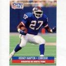1991 Pro Set Spanish Football #165 Rodney Hampton - New York Giants
