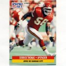 1991 Pro Set Spanish Football #107 Derrick Thomas - Kansas City Chiefs