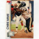 1992 Pro Set Football #640 Chris Mims - San Diego Chargers