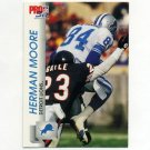 1992 Pro Set Football #495 Herman Moore - Detroit Lions