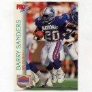 1992 Pro Set Football #421 Barry Sanders PB - Detroit Lions