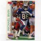 1992 Pro Set Football #409 Michael Irvin PB - Dallas Cowboys