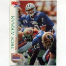 1992 Pro Set Football #401 Troy Aikman PB - Dallas Cowboys