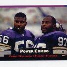 1993 Power Football Power Combos #7 Chris Doleman / Henry Thomas - Minnesota Vikings