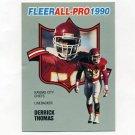 1990 Fleer Football All-Pros #13 Derrick Thomas - Kansas City Chiefs