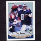 1990 Fleer Football #384 Troy Aikman - Dallas Cowboys