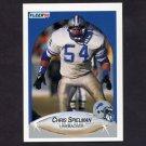 1990 Fleer Football #286 Chris Spielman - Detroit Lions