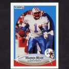 1990 Fleer Football #133 Warren Moon UER - Houston Oilers