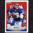 1990 Fleer Football #113 Jim Kelly - Buffalo Bills