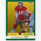 1991 Fleer Football #408 Joe Montana LL - San Francisco 49ers