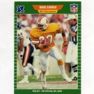 1989 Pro Set Football #409 Mark Carrier RC - Tampa Bay Buccaneers