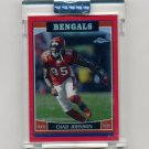 2006 Topps Chrome Football UNCIRCULATED Red Refractors #021 Chad Johnson - Bengals 129/259