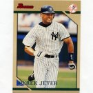 1996 Bowman Baseball #112 Derek Jeter - New York Yankees