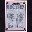 1991 Upper Deck Football #600 Checklist 501-600