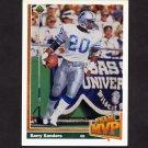 1991 Upper Deck Football #458 Barry Sanders TM - Detroit Lions