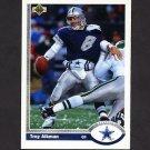 1991 Upper Deck Football #152 Troy Aikman - Dallas Cowboys