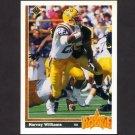 1991 Upper Deck Football #027 Harvey Williams RC - Kansas City Chiefs