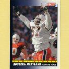 1991 Score Football #565A Russell Maryland RC ERR - Dallas Cowboys