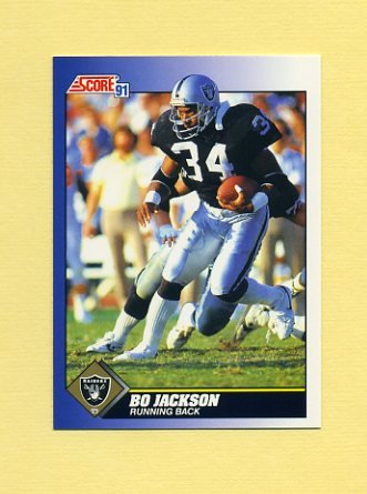 1991 Score Football #100 Bo Jackson - Los Angeles Raiders