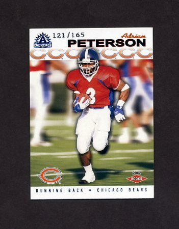 2002 Pacific Adrenaline Blue Football #050 Adrian Peterson RC - Chicago Bears /165