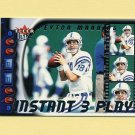 2000 Ultra Football Instant Three Play #01 Peyton Manning - Indianapolis Colts