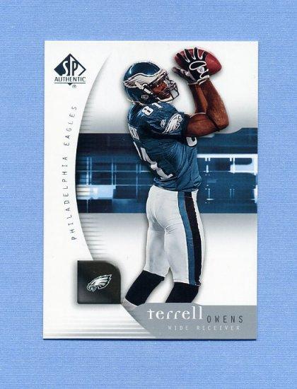 2005 SP Authentic Football #067 Terrell Owens - Philadelphia Eagles