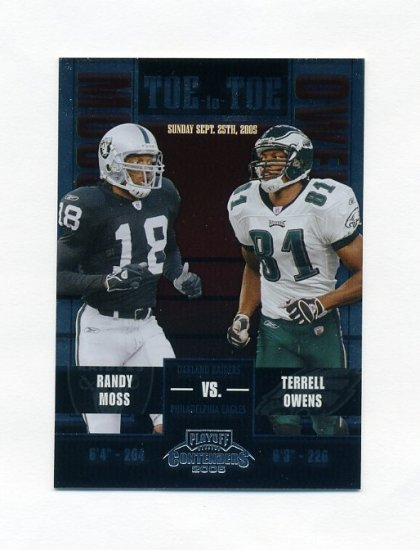 2005 Playoff Contenders Toe to Toe Football #08 Terrell Owens / Randy Moss 041/450