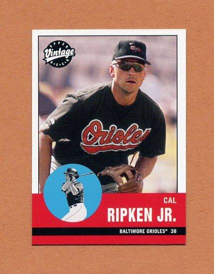 2001 Upper Deck Vintage Baseball #069 Cal Ripken Jr. - Baltimore Orioles