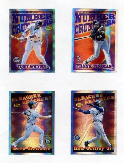 1997 Topps Baseball Season's Best Complete Insert Set SB1-SB25