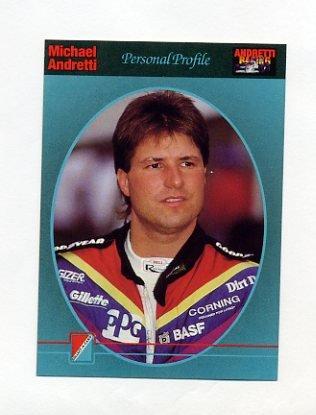 1992 Collect-A-Card Andretti Racing #99 Michael Andretti