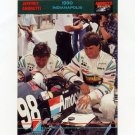 1992 Collect-A-Card Andretti Racing #86 1990 Indianapolis 500
