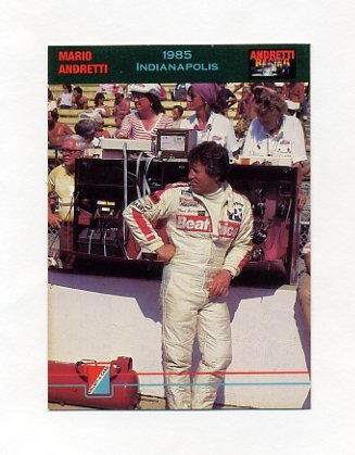 1992 Collect-A-Card Andretti Racing #60 Mario Andretti