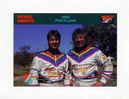 1992 Collect-A-Card Andretti Racing #43 Michael Andretti / Mario Andretti