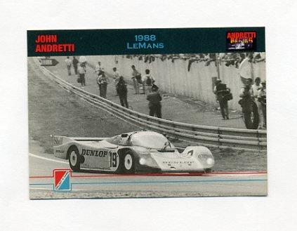1992 Collect-A-Card Andretti Racing #32 John Andretti / Michael Andretti / Mario Andretti / Car