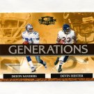 2007 Donruss Threads Generations Gold Football #02 Deion Sanders / Devin Hester