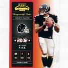 2002 Playoff Contenders Championship Ticket #076 Michael Vick - Atlanta Falcons 231/250