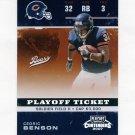 2007 Playoff Contenders Playoff Ticket #019 Cedric Benson - Chicago Bears 011/199.