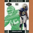 2007 Topps Co-Signers Changing Faces Gold Green #079A Craig Buster Davis / Dwayne Bowe 035/249